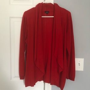 Torrid open red cardigan